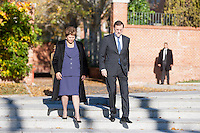 President Dilma Rousseff and Mariano Rajoy military honours