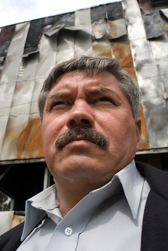 Secretario General de la Seccion 1 del Sindicato Unico de Trabajadores del Gobierno del DF, Jesus Vital. Estacion de Transferencia Central de AbastosMexico City.  Mexico DF, 09-08-07