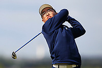 Jang Hyun Lee (South Korea) on the 5th tee during Round 1 of the The Amateur Championship 2019 at The Island Golf Club, Co. Dublin on Monday 17th June 2019.<br /> Picture:  Thos Caffrey / Golffile<br /> <br /> All photo usage must carry mandatory copyright credit (© Golffile | Thos Caffrey)