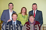 On Monday evening in the Brandon Hotel 5 candidate were chosen to represent the Tralee Town Council and Kerry County Council. Town Council Front l-r: Arthur Spring and Terry O'Brien (Town Councill and KCC): Brian Hurley, Jillian Warton-Slattery and Dan Galvin.(Tralee Town Council).   ..........   Copyright Kerry's Eye 2008