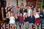 Danny McSweeney, Castleisland (seated centre) had great fun celebrating his 50th birthday last Saturday night in the Kingdom bar, Castleisland surrounded by many friends and family.