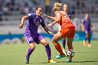 Orlando, FL - Saturday June 24, 2017: Marta, Camille Levin during a regular season National Women's Soccer League (NWSL) match between the Orlando Pride and the Houston Dash at Orlando City Stadium.