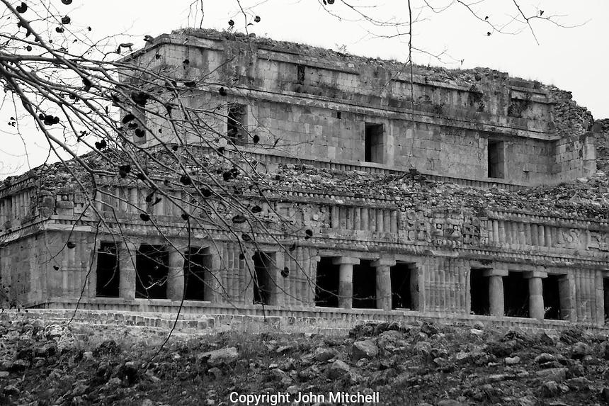 The Palace or El Palacio at the Mayan ruins of Kabah, Yucatan, Mexico