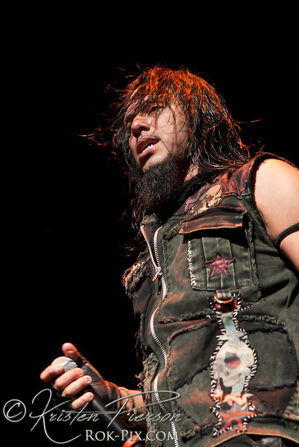 Pop Evil perform at Comcast Center in Hartford on May 20, 2011
