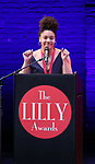Abby Jean Baptiste on stage during the 9th Annual LILLY Awards at the Minetta Lane Theatre on May 21,2018 in New York City.
