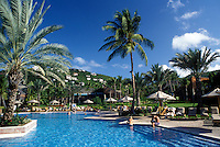 resort, pool, St. John, U.S. Virgin Islands, Caribbean, USVI, Swimming pool at the Westin Resort on Saint John Island.