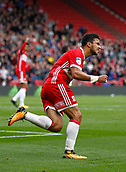 30th September 2017, Riverside Stadium, Middlesbrough, England; EFL Championship football, Middlesbrough versus Brentford; Fabio of Middlesbrough celebrates making it 2-2 in the 76th minute