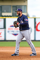 San Antonio Missions first baseman David Freitas (23) during a Pacific Coast League game against the Iowa Cubs on May 2, 2019 at Principal Park in Des Moines, Iowa. Iowa defeated San Antonio 8-6. (Brad Krause/Four Seam Images)
