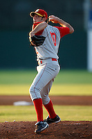 August 6, 2009:  Pitcher Brandon Moore of the Brooklyn Cyclones during a game at Dwyer Stadium in Batavia, NY.  The Cyclones are the Short-Season Class-A affiliate of the New York Mets.  Photo By Mike Janes/Four Seam Images