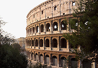 Colosseum or Flavian Amphitheatre built c70-82 AD, Rome, Italy, Europe.