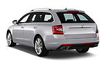 Car pictures of rear three quarter view of a 2017 Skoda Octavia Combi RS 5 Door Wagon angular rear
