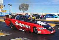 Feb 4, 2016; Chandler, AZ, USA; NHRA funny car driver Cruz Pedregon during pre season testing at Wild Horse Pass Motorsports Park. Mandatory Credit: Mark J. Rebilas-USA TODAY Sports