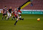 Jordan Hallam scores the first goal from the penalty spot during the U18 Professional Development League 2 play off semi final match at  Bramall Lane, Sheffield. Picture date: April 21st 2017. Pic credit should read: Simon Bellis/Sportimage