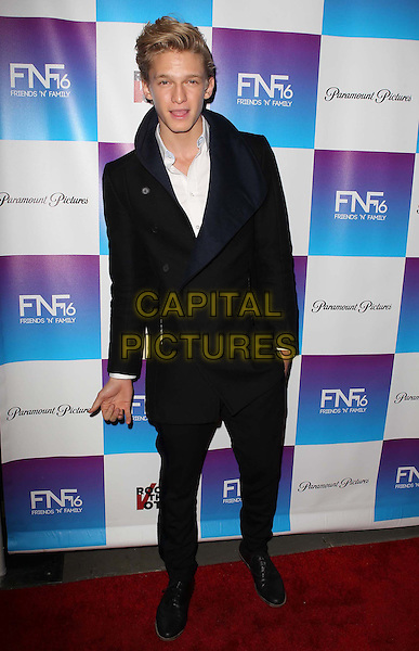 Cody Simpson.Paramount Studios' 16th Annual Friends 'N' Family Party Held At Paramount Studios, Los Angeles, California,.USA, 8th February 2013..full length coat trousers white shirt black .CAP/ADM/KB.©Kevan Brooks/AdMedia/Capital Pictures.