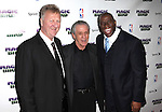 "Larry Bird, Pat Riley & Magic Johnson pictured at the ""Magic/Bird"" Opening Night Arrivals at the Longacre Theatre in New York City on April 11, 2012 © Walter McBride / WM Photography  Ltd."