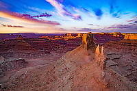 Marlboro Point at dawn,  Canyonlands National Park, Utah Colorado River Canyons beyond