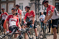 Team Lotto-Soudal waiting to sign-on<br /> <br /> 3rd Dwars Door Het hageland 2018 (BEL)<br /> 1 day race:  Aarschot > Diest: 198km