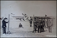 BNPS.co.uk (01202 558833)<br /> Pic:  PeterWilson/BNPS<br /> <br /> Crews taking part in a high jump competition at the East Fortune Naval Air Station.<br /> <br /> A charming letter which was carried on the first airship to cross the Atlantic has come to light 100 years later.<br /> <br /> Reverend George Jones, who was stationed at the Royal Naval Air Station East Fortune near Edinburgh, wanted to surprise his sister Donie by sending her a letter from America.<br /> <br /> So he gave the letter to one of the crew of airship R34 ahead of the historic flight on July 2, 1919, and asked him to post it to Donie from New York.<br /> <br /> He obliged and the letter reached its final destination in Bournemouth, Dorset, several months later as it made the return journey via ship.