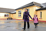 Sharon Ni Shuilleabhain  with her daughter Meabh Ni Dhubhda at Scoil Náisiúnta Eoin Baiste, Lispole, Co. Kerry.  Picture: Eamonn Keogh (MacMonagle, Killarney)