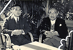 Undated - Ichiro Kono (L) and  Ichiro Hatoyama (R). Hatoyama was a Japanese politician and the 52nd, 53rd and 54th Prime Minister of Japan.  (Photo by Kingendai Photo Library/AFLO)