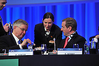 One lump of two Taoiseach... Taoiseach Enda Kenny and at the EPP Congress in the Dublin Conference Centre on Friday.<br /> Picture by Sally MacMonagle<br /> <br /> <br /> Photo from EPP congress repro free