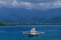 Océanie/Australie/Queensland/env de Port Douglas: bateau de peche et en fond la rainforest pres de la grande barrière de corail