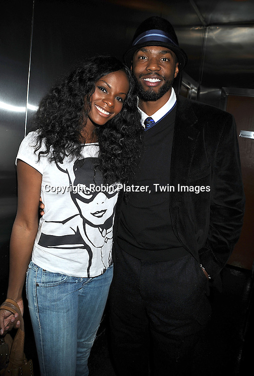 One Life to Live actor's Tika Sumpter and Tobias Truvillion ..at The Stockings With Care Benefit at Bar 13 on  December 4, 2008 in New York City. ......Robin Platzer, Twin Images