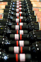 Bottles of Brunello di Montalcino ready for the distribution.Bottiglie di Brunello di Montalcino pronte per la distribuzione.