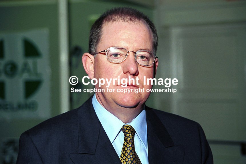 Charlie Flanagan, Fine Gael, TD, Rep of Ireland, Ref: 199902043..Copyright Image from Victor Patterson, 54 Dorchester Park, Belfast, UK, BT9 6RJ..Tel: +44 28 9066 1296.Mob: +44 7802 353836.Voicemail +44 20 8816 7153.Skype: victorpattersonbelfast.Email: victorpatterson@mac.com.Email: victorpatterson@ireland.com (back-up)..IMPORTANT: If you wish to use this image or any other of my images please go to www.victorpatterson.com and click on the Terms & Conditions. Then contact me by email or phone with the reference number(s) of the image(s) concerned.