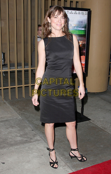 "REBECCA PIDGEON.""Redbelt"" Los Angeles Premiere held at the Egyptian Theatre, Hollywood, California, USA..April 7th, 2008.full length dress black sleeveless .CAP/ADM/CH.©Charles Harris/AdMedia/Capital Pictures"