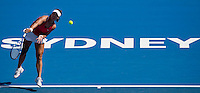 Na Li (CHN) against Caroline Wozniacki (DEN) in the first round of the Ladies Singles. Na Li beat Wozniacki 2-6 6-3 6-2  ..International Tennis - Medibank International Sydney - MON 11 Jan 2010 - Sydney Olympic Park  Tennis Centre- Sydney - Australia ..© Frey - AMN Images, 1st Floor, Barry House, 20-22 Worple Road, London, SW19 4DH.Tel - +44 20 8947 0100.mfrey@advantagemedianet.com