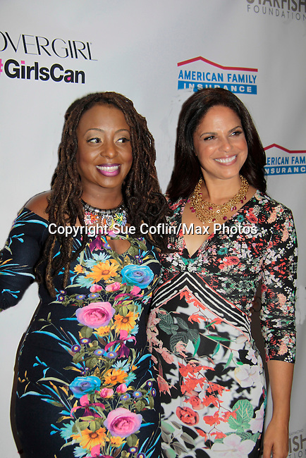 Ledisi and Soledad O'Brien  - Soledad O'Brien and Brad Raymond Starfish Foundation presents New Orleans to New York City 2014 Gala on July 24, 2014 at Espace, New York City for VIP Cocktail Reception, dinner, entertainment with Grammy Award winning Trumpeteer Irvin Mayfield (also Board president) and the New Orleans Jazz Orchestra. (Photo by Sue Coflin/Max Photos)
