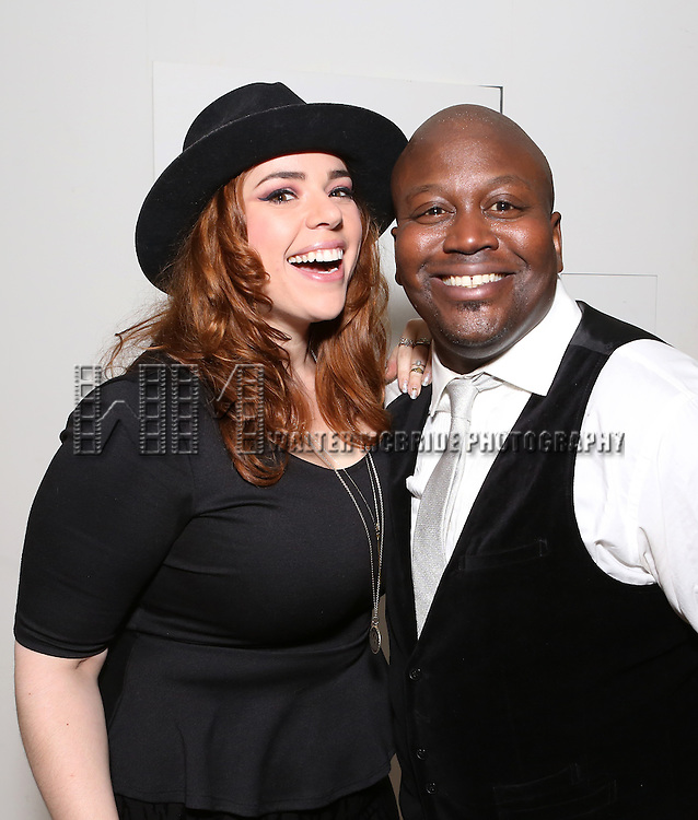 Alysha Umphress and Tituss Burgess attend 'Parlor Night' A benefit evening for The Broadway Inspirational Voices Outreach Program at the home of Roy and Jenny Neiderhoffer on June 22, 2015 in New York City.