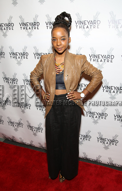 """Kara Young during the Opening Night Celebration for """"Good Grief"""" at the Vineyard Theatre on October 28, 2018 in New York City."""