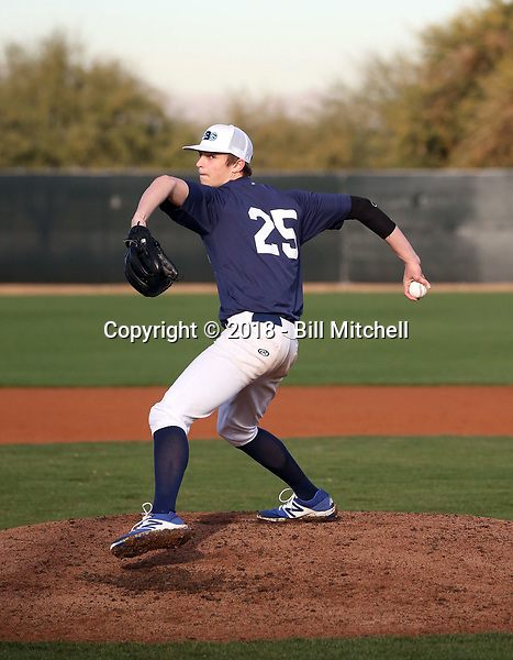 Mick Abel plays in the 2018 Perfect Game MLK Upperclass Championship West on January 12-15, 2018 at Camelback Ranch in Glendale, Arizona (Bill Mitchell)