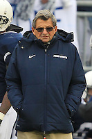 STATE COLLEGE, PA - NOVEMBER 27: Head coach Joe Paterno of the Penn State Nittany Lions stands on the sideline during a game against the Michigan State Spartans on November 27, 2010 at Beaver Stadium in State College, Pennsylvania. The Spartans won 28-22. (Photo by Hunter Martin/Getty Images) *** Local Caption *** Joe Paterno