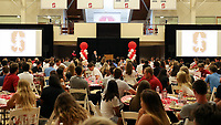 Stanford, CA - September 18, 2017:  New Student Athlete Orientation event for incoming students and their parents held at Ford Center & Burnham Pavilion.