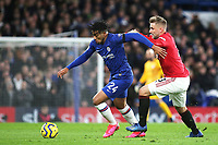 Reece James of Chelsea outpaces Manchester United's Luke Shaw during Chelsea vs Manchester United, Premier League Football at Stamford Bridge on 17th February 2020