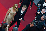 "70eme Festival International du Film de Cannes. Montee de la ceremonie de cloture, vues du toit du Palais . 70th International Cannes Film Festival. Vew from rof top of closing red carpet<br /> <br /> Thurman, Uma; Hawke-Thurman, Roan (""Levon"")"