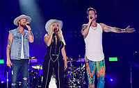 10 June 2018 - Nashville, Tennessee - BeBe Rexha, Tyler Hubbard, Brian Kelley, Florida Georgia Line. 2018 CMA Music Fest Nightly Concert held at Nissan Stadium. <br /> CAP/ADM/LF<br /> &copy;LF/ADM/Capital Pictures