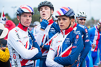 Picture by Alex Whitehead/SWpix.com - 23/09/2017 - Cycling - 2017 UCI Road World Championships, Day 7 - Bergen, Norway - Great Britain's Tom Pidcock, Jake Stewart, Fred Wright, Mark Donovan, Jacob Vaughan during the Junior Men's Race.