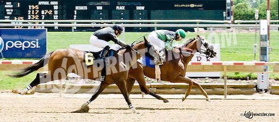 Alinator winning at Delaware Park racetrack on 5/31/14