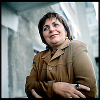 "ROMANIA, Bucharest, 10.05..Born in 1942, Gabriela Adamesteanu has published her first novel in the middle of the 70's : The Monotony of each Day. In 1987, when the communist dictatorship was at the top, her novel ""A morning lost"" has been adapted for theater and has got a real succes. Since 1991, she is more implicated in the politic and she became the chief editor of the weekly publication of the Group for the Social Dialogue, 22..© Bruno Cogez / ostphoto"