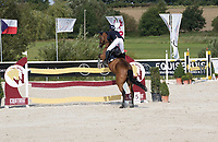 Jumper, jumping fence at Czech Equestrian Masters 2017, Martinice The Czech Republic