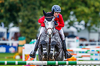 USA-Elisabeth Halliday-Sharp rides Flash Cooley during the Showjumping for the CCI3*-L7YO. 2019 FRA-Mondial du Lion - FEI World Breeding Championships. Le Lion d'Angers. France. Sunday 20 October. Copyright Photo: Libby Law Photography