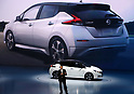 Nissan premieres new version of LEAF electronic vehicle