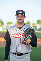 Arkansas Travelers Wyatt Mills (41) poses for a photo before a Texas League game between the Northwest Arkansas Naturals and the Arkansas Travelers on May 30, 2019 at Arvest Ballpark in Springdale, Arkansas. (Jason Ivester/Four Seam Images)