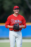 Philadelphia Phillies pitcher Damon Jones (41) during an Instructional League game against the Toronto Blue Jays on October 7, 2017 at the Englebert Complex in Dunedin, Florida.  (Mike Janes/Four Seam Images)