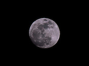 The supermoon where the moon appears 14% larger and is just 356,972km from Earth.