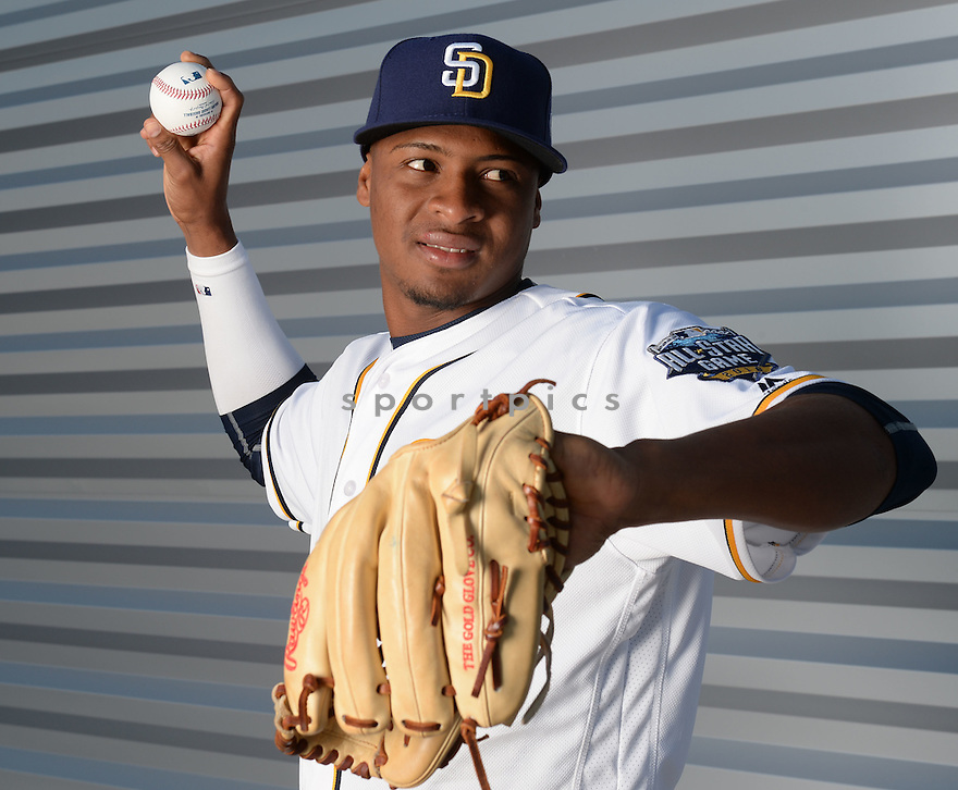 San Diego Padres Luis Perdomo (61) during photo day on February 26, 2016 in Peoria, AZ.